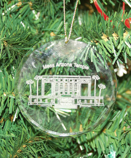 Crystal Glass Temple Ornament