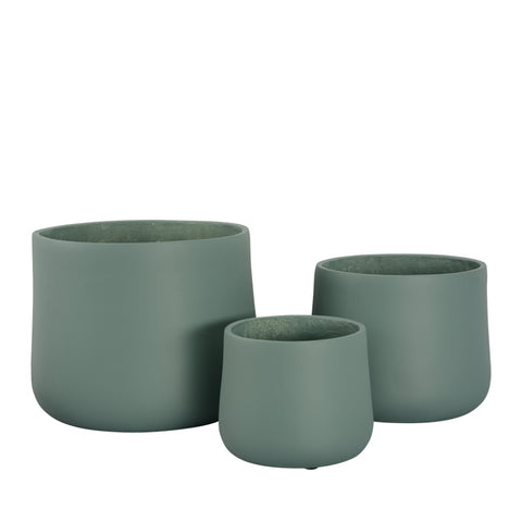 Verona Planter Pot - Hunter Green