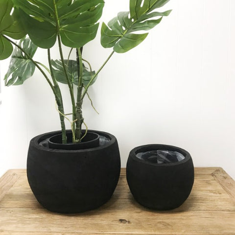 Black Shape Planter Bowls