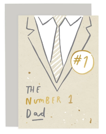 Number 1 Dad Card
