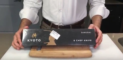 Unboxing: 8 Inch VG10 Damascus Japanese Steel Chef Knife from the Samurai Series