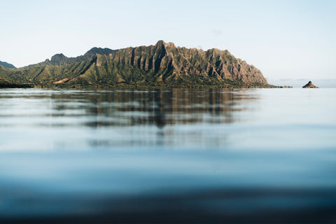 Jurassic, Kualoa Hawaii, surfing, beautiful, photo, print, prints, ocean, water, beach, coast, coastal, photography, design, interior, framing, styling, phresh