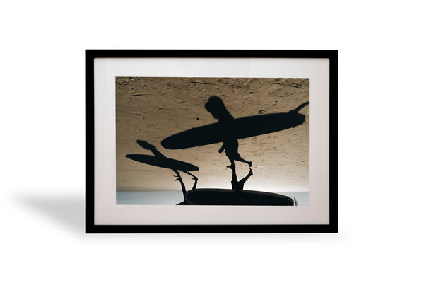 en route, shadows, surfers, byron bay, beautiful, photo, print, prints, photography, design, interior, framing, styling, phresh