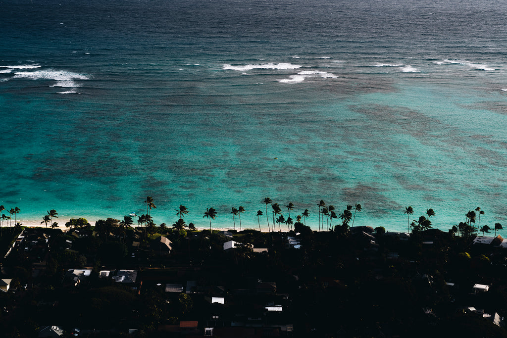 Heavenly sea, Lanikai, Hawaii, ocean, water, interior, framing, styling, phresh