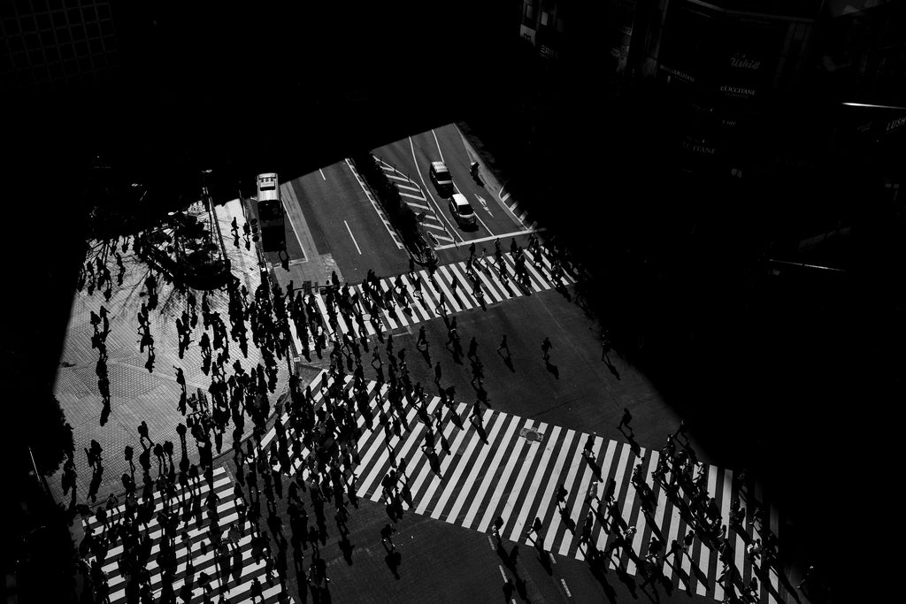 shibuya crossing, japan, abstract, people, beautiful, photo, print, prints, photography, design, interior, framing, styling, phresh