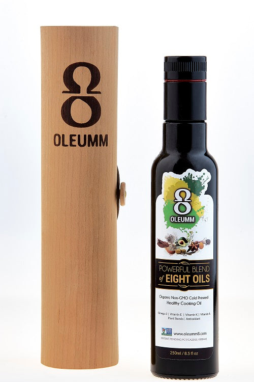 Oleumm8 250 mL Bottle with hand made Cherry Wood Case