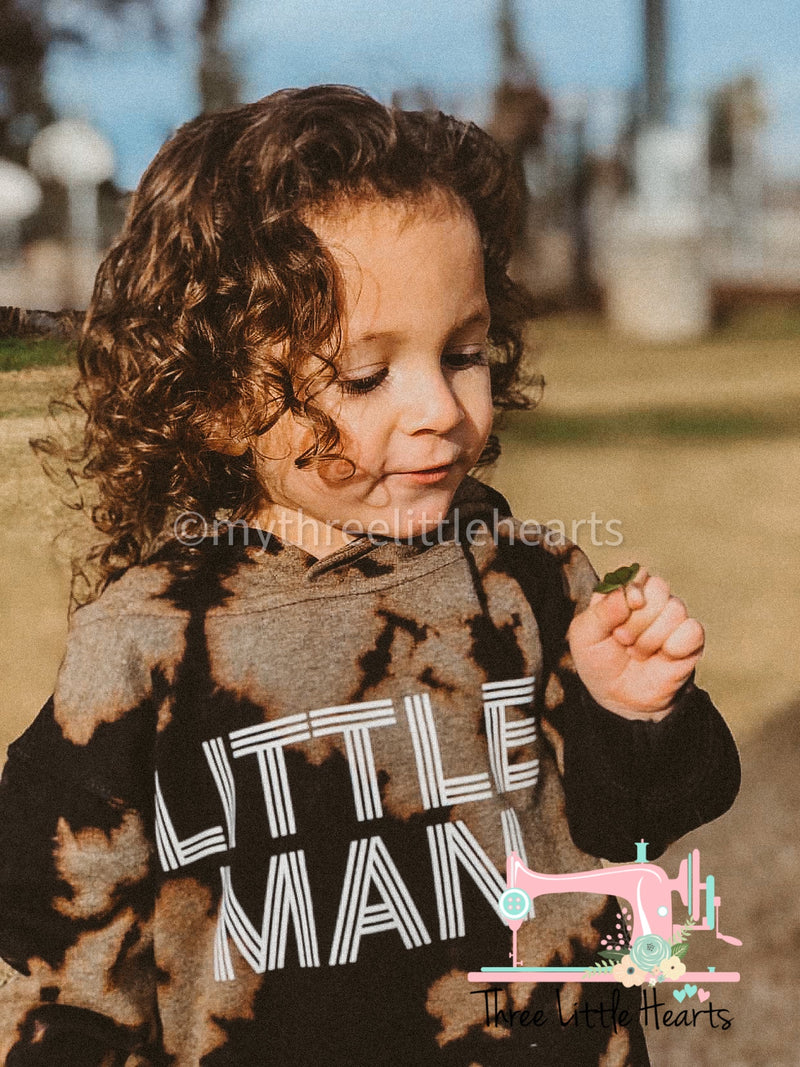 little man Acid wash hoodie