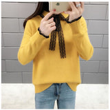 Lace Bow Pullover