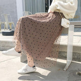 Polka Dotted Tulle Skirt