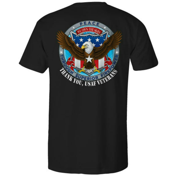 Air Force Patriot Ride Black Tee