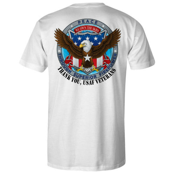 Air Force Patriot Ride White Tee