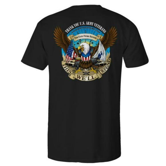 Army Patriot Ride Black Tee