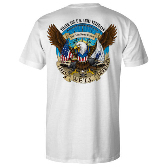 Army Patriot Ride White Tee