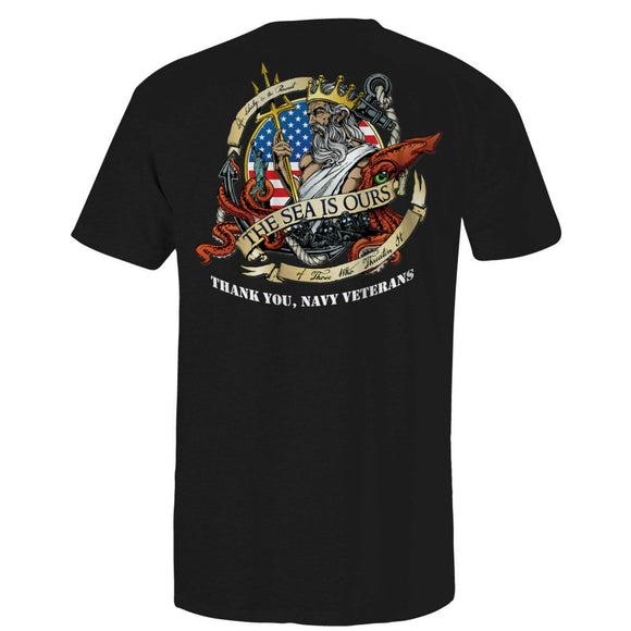 Navy Patriot Ride Black Tee