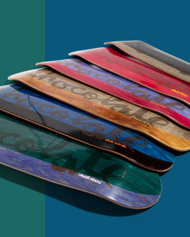 Chocolate Split Veneer skateboard decks