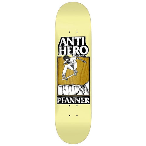"Buy Anti Hero Pfanner Lance Skateboard Deck 8.5"" X 31.8"" Wheelbase - 14.25"" All decks come with free Jessup grip, Please specify in notes if you would like it applied. Buy now Pay Later with Klarna & ClearPay payment plans at checkout. Fast free Delivery and shipping options. Tuesdays Skateshop, Greater Manchester, Bolton, UK."