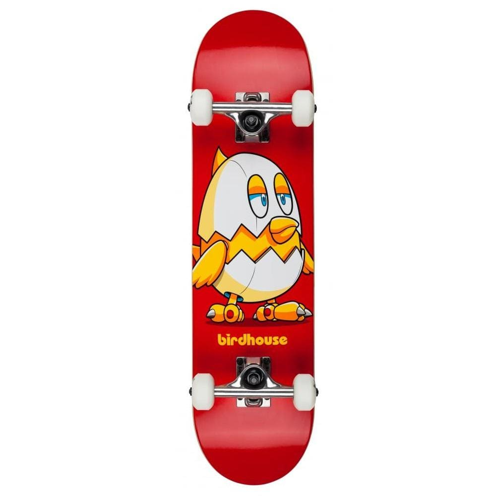 "Buy Birdhouse Chicken Mini Complete Skateboard 7.38"" 7-Ply Hard rock maple construct. 7.38"" X 29"" Birdhouse Raw Trucks 5""52mm 95A HR WheelsAbec 5 Bearings Ideal for a first timer or the more intermediate skateboarding. Feel free to get in contact if you would like further assistance while browsing.  Free Delivery Fast Shipping."