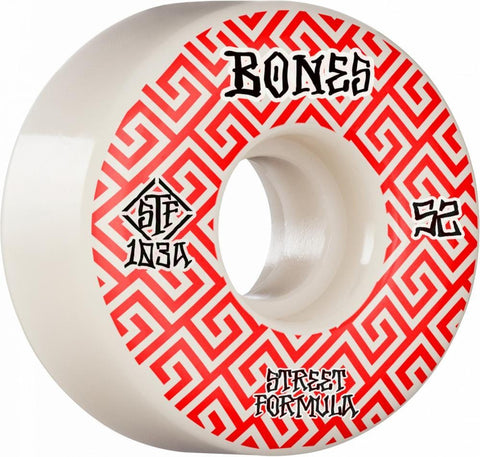 Buy Bones STF Skateboard Wheels 52 MM 103 A Street Tech Formula. Designed to Lock into grinds. See more Wheels? Fast Free delivery and shipping options. Buy now Pay later with Klarna and ClearPay payment plans at checkout. Tuesdays Skateshop. Best for Skateboarding and Skateboard Wheels. Bolton, UK.