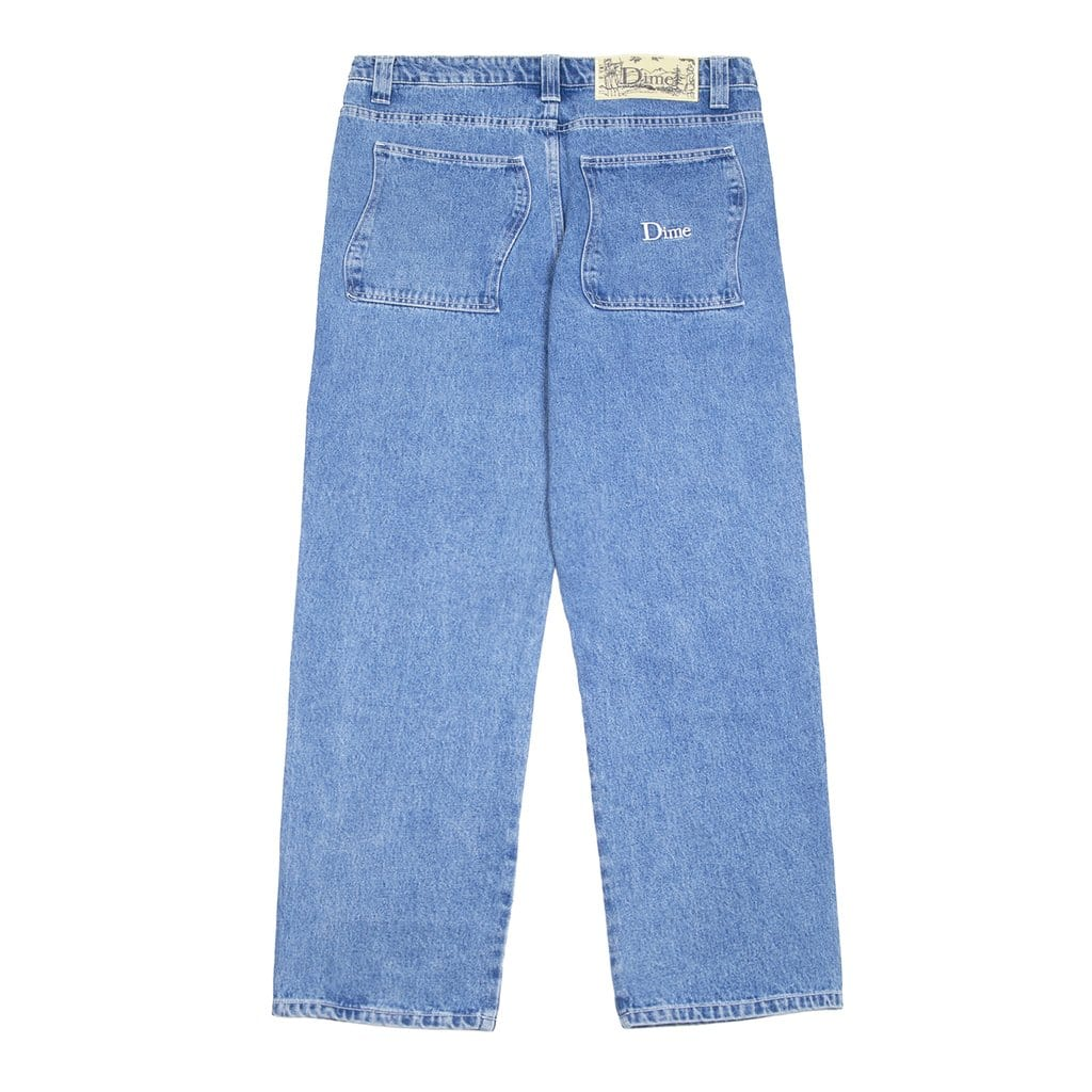 Buy Dime MTL Denim Pants Light Blue Wash. Wavy back pockets. Double stitched construct. Yellow tab detailing on front pocket. Leather back patch detail. See more Dime MTL? Free fast delivery, 5 star customer review, multiple secure checkout options & buy now pay later options. Tuesdays Skate shop #1 Dime MTL Stockist.