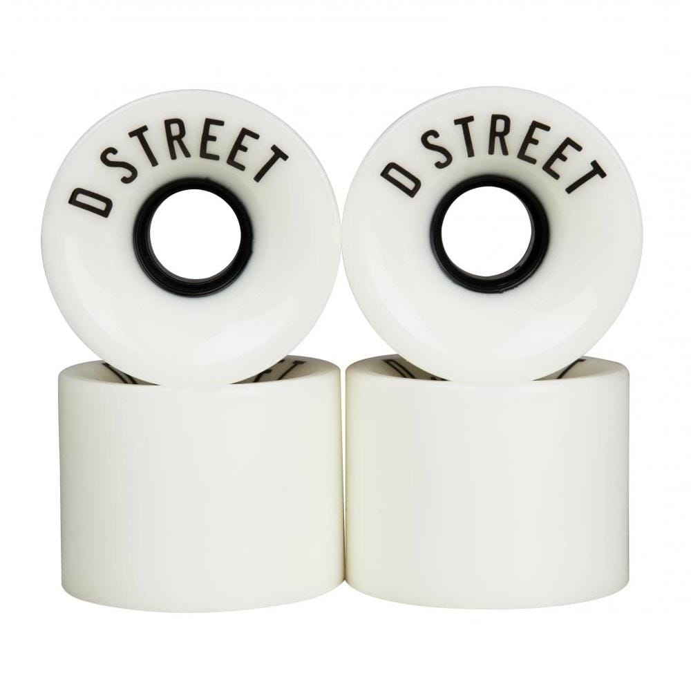 Buy D-Street Cruiser Wheels 59 MM 78A. 59 MM X 45 MM. Super soft Urethane for a smoother ride on all terrains. Compatible with all recognised skateboarding components. Centre set Hub. See more Wheels? Fast Free delivery and shipping options. Buy now pay later with Klarna & ClearPay payment plans at checkout. Tuesdays Skateshop.