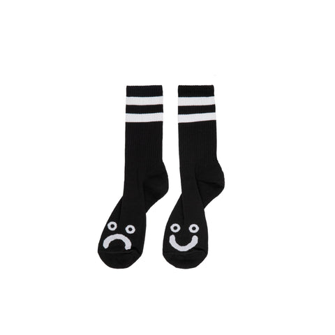 Buy Polar Skate Co. Happy Sad Classic Sock in Black Available in two sizes, select from options. 85% Cotton/10% Polyester/5% Spandex Art design by Pontus Alv Made in Europe Feel free to message for further information on any of our products. 10.00 GBP Fast Free delivery and shipping options. Buy now Pay later with Klarna or ClearPay at checkout. Tuesdays Skateshop, Greater Manchester. Bolton, UK.