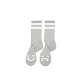 Buy Polar Skate Co. Happy Sad Classic Sock in Grey Available in two sizes, select from options. 85% Cotton/10% Polyester/5% Spandex Art design by Pontus Alv Made in Europe Feel free to message for further information on any of our products. 10.00 GBP Fast Free delivery and shipping options. Buy now Pay later with Klarna or ClearPay at checkout. Tuesdays Skateshop, Greater Manchester. Bolton, UK.
