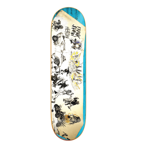 "Buy Heroin Skateboards Frank Shaw 'Apocalypse' Razortop Skateboard Deck 8.625"" All decks come with free Jessup grip, please specify in notes (at checkout) if you would like it applied or not. For further information on any of our products please feel free to message. Fast free UK Delivery, Worldwide Shipping. Buy now pay later with Klarna and ClearPay at checkout. Tuesdays Skateshop Bolton. Greater Manchester, UK."
