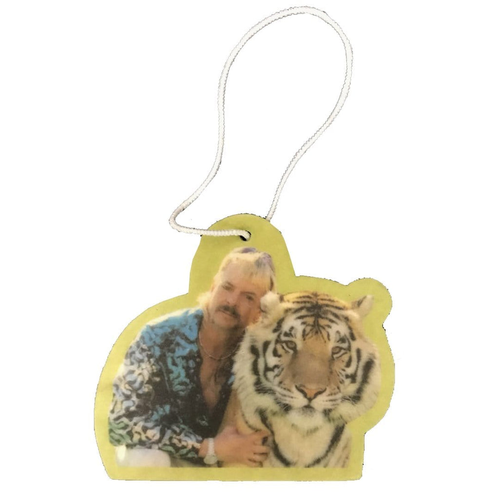 Buy Joe Exotic Tiger King Car Air Freshener. Cherry Scented aroma. Long lasting cherry aroma. Elasticated string pulley for adjusting to car interior. Shop all the latest? Fast free UK delivery with Quick Worldwide shipping.