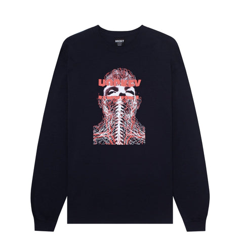 Buy Hockey Skateboards Nerves Longsleeve T-Shirt Black. 100% Cotton construct. Central chest print detailing. Regular fit. For further assistance feel free to open the on site chat (Bottom right) See more Hockey? See more L/S Tees? Fast Free UK / EU Delivery & Shipping options. Buy now pay later with ClearPay & Klarna. Tuesdays Skateshop | Bolton Greater Manchester, UK.