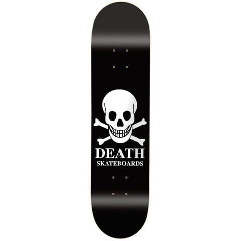 "Buy Death Skateboards OG Skull Black Skateboard Deck 8.75"" Mid Concave. Top ply stains vary. All decks come with free Jessup grip tape, please specify in notes if you would like it applied or not. See more Decks? Fast Free UK & Europe Delivery options, Worldwide Shipping. #1 UK Stockist."