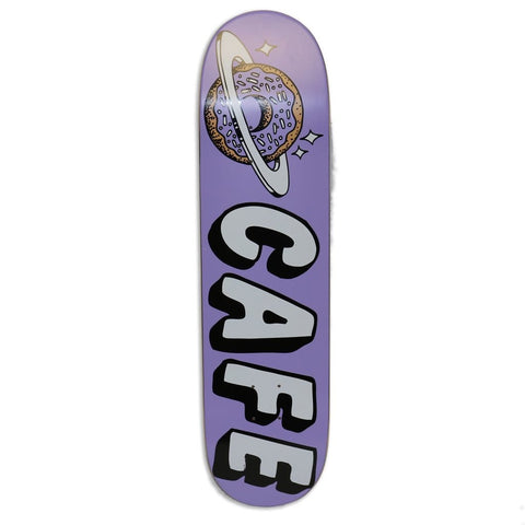 "Buy Skateboard Cafe Planet Donut Lavender Skateboard Deck 7.75"" All decks come with free jessup grip and next day delivery, please specify in notes if you would like grip applied or not. Browse all decks 