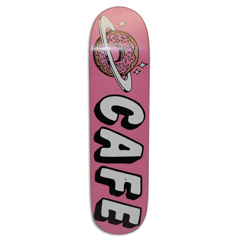 "Buy Skateboard Cafe Planet Donut Pink Skateboard Deck 8"" All decks come with free jessup grip and next day delivery, please specify in notes if you would like grip applied or not. Browse all decks 