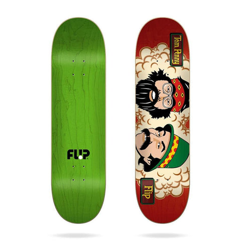 "Buy Flip Skateboards Penny Toms Friends Skateboard Deck. 8.25"" X 32.31"" Wheelbase : 14"" Classic Cheech and Chong, Staple piece. Pressed and Printed in Spain. Carry over Tom Penny Pro model. See more Decks? Fast Free UK and EU Delivery options, Worldwide Shipping."