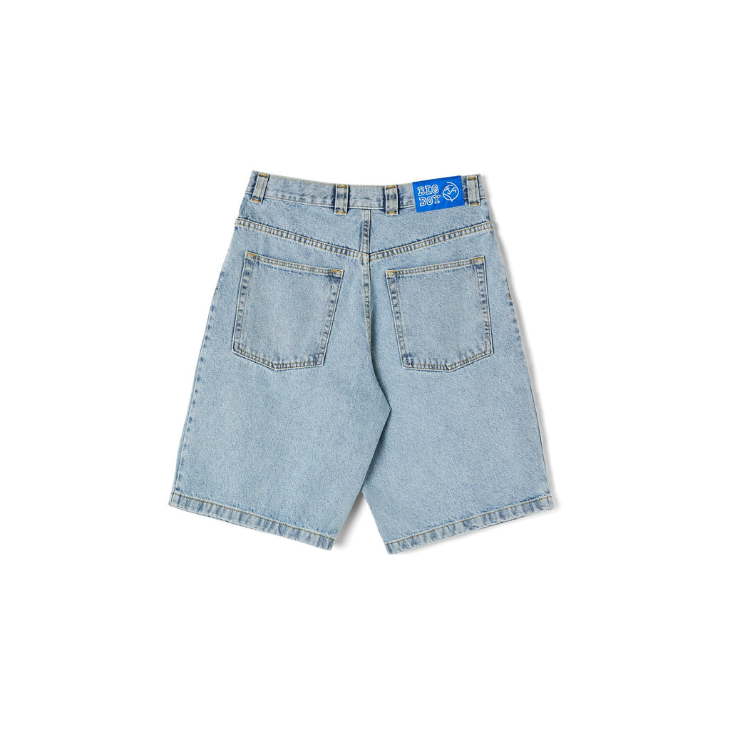 Buy Polar Skate Co. Big Boy Shorts Light Blue. The Pinnacle of Jorts. Regular Big boy loose fitting construct. Sit below knee. Big Boy pocket embroidered detail. Big Boy Belt back tab. Biggest and Best selection of Polar Skate Co. in the UK at Tuesdays. Secure checkout options, fast free delivery services & buy now pay later options.