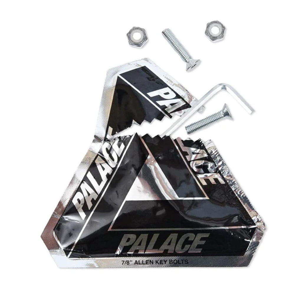 "Buy Palace Skateboards Bolts. Pack of 8. 7/8"" long. Allen Key. See more Hardware & Parts? Fast Free Delivery and Shipping options. Buy now pay later with Klarna & ClearPay. Tuesdays Skateshop Greater Manchester Botlon, UK."