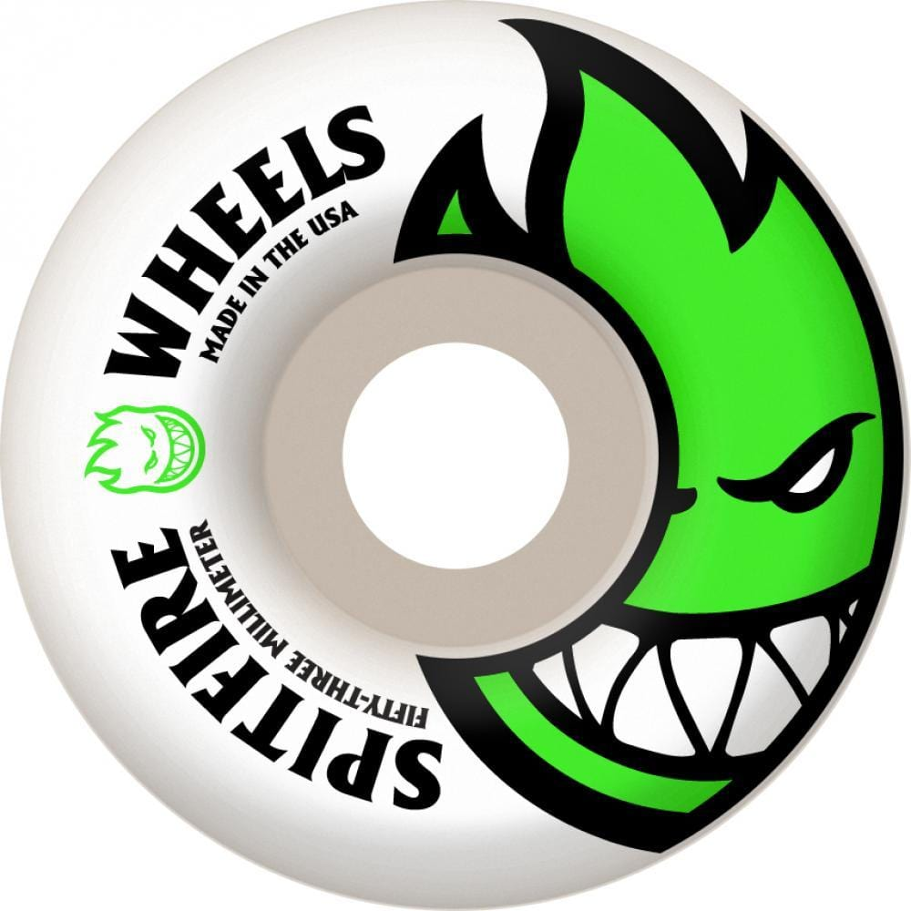 d570d1041cb Spitfire Big Head Skateboard Wheels 53 mm White Green