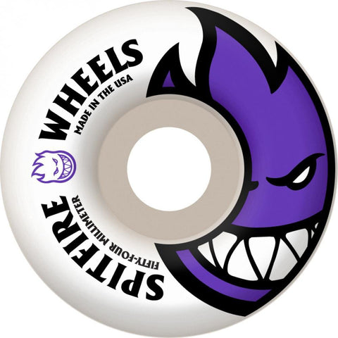 Spitfire Big Head Skateboard Wheels 54 mm White/Purple