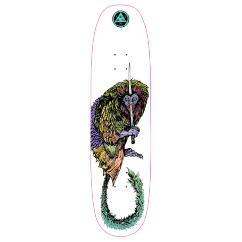 "Buy Welcome Skateboards Tamarin Moontrimmer 2.0 Shaped Skateboard Deck 8.5"" Classic Shaped Welcome deck. All decks come with free Jessup grip. Drop us a message in the chat to let us know if you would like it applied or not. Best range of welcome Shaped Decks in the UK. Klarna & ClearPay payment plans, Pay in 3 or 4. Tuesdays Skateshop Greater Manchester. Best for Skateboarding."