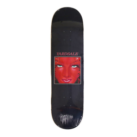 "Buy Yardsale Face Red Skateboard Deck 8.375"" Wheelbase : 14"" All decks come with free grip, please specify in the notes at checkout if you would like it applied or separate. Best for Skateboards in the UK at Tuesdays. Biggest selection, Fast Delivery, Free Grip tape and multiple payment methods. #1 Yardsale XXX stockist."