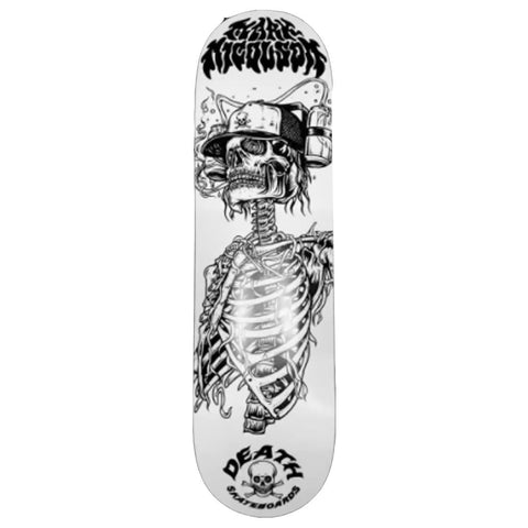 "Buy Death Skateboards Mark Nicolson 'Beer Helmet' Skateboard Deck 8.25"" Mid Concave. Top ply stains vary. All decks come with free Jessup grip tape, please specify in notes if you would like it applied or not. See more Decks? Fast Free UK & Europe Delivery options, Worldwide Shipping. #1 UK Stockist."