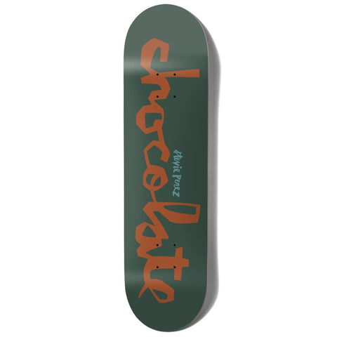 "Buy Chocolate Skateboards OG Chunk Stevie Perez Skateboard Deck 8.375"" Wheelbase : 14"" Mid Concave All decks are sold with free Jessup grip tape, please specify in the notes if you would like it applied or not. Fast Free UK delivery, Worldwide Shipping. buy now pay later, Klarna & ClearPay. Tuesdays Skateshop, Bolton UK."