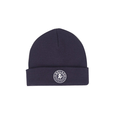 Buy Helas Polo Club Beanie Navy. 100% Acrylic construct. Rubber front patch detail. Single fold. One size fits all. See more Helas? Click here.  Fast Free delivery and shipping options. Buy now Pay later with Klarna and ClearPay payment plans at checkout. Tuesdays Skateshop, Greater Manchester, Bolton, UK.