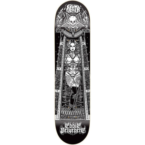 "Buy Death Skateboards Eddie Belvedere Maiden Skateboard Deck 8.25"" Mid Concave. Top ply stains vary. All decks come with free Jessup grip tape, please specify in notes if you would like it applied or not. See more Decks? Fast Free UK & Europe Delivery options, Worldwide Shipping. #1 UK Stockist."