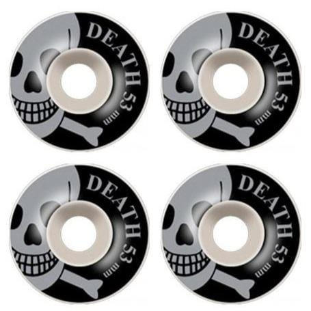 Buy Death Skateboards Skull Wheels. 53 MM 100 DU. Round. You get 4. Flat spot resistant. Tried and Tested by PROFFESIONALS. For further information please feel free to message via the on platform chat option. We only stock the best. See more Wheels? Fast Free UK/EU Delivery Options, Worldwide Shipping. Tuesdays Skate Shop Bolton UK.