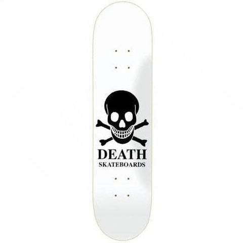 "Buy Death Skateboards OG Skull White Skateboard Deck 8.375"" Mid Concave. Top ply stains vary. All decks come with free Jessup grip tape, please specify in notes if you would like it applied or not. See more Decks? Fast Free UK & Europe Delivery options, Worldwide Shipping. #1 UK Stockist."