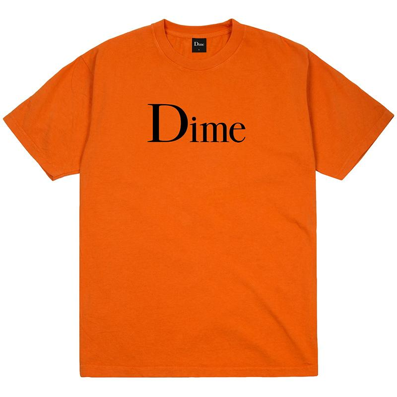 Buy Dime MTL Classic Logo T-Shirt Orange. Front print detailing. 6.5 oz 100% mid weight cotton construct. For further information on any of our products please feel free to message. Fast Free UK and EU delivery options, Worldwide shipping. Shop the best range of Dime in Europe at Tuesdays Skateshop Bolton, Greater Manchester | UK | Buy Now Pay Later, Klarna | Clearpay.