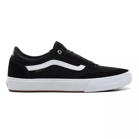 Buy Vans Gilbert Crockett 2 Pro Shoes Black/True White. Reinforced Suede Toe box (DuraCap underlay) with Mixed Canvas/Suede uppers. Wafflecup Vans sole technology. Popcush insole technology. Padded tongue with Gilbert Crockett Vans OWT woven tab detailing. Skateboarding Shoes | Tuesdays Skate Shop UK | Fast Free Delivery, Worldwide Shipping.
