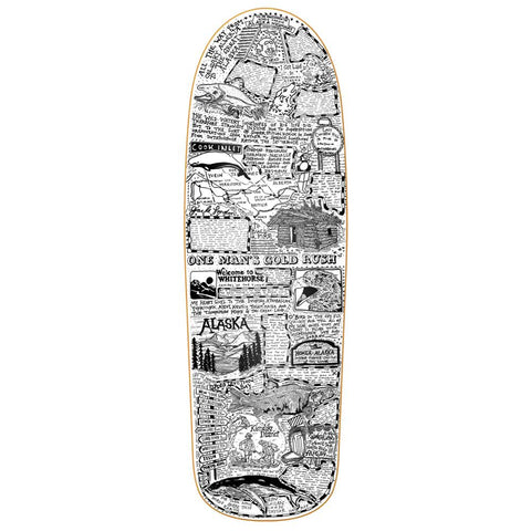 "Buy Heroin Skateboards Craig Questions 'Gold Rush' Skateboard Deck 10"" Wheelbase - 14.25"" All decks come with free Jessup grip, please specify in notes (at checkout) if you would like it applied or not. For further information on any of our products please feel free to message. Fast free UK Delivery, Worldwide Shipping."