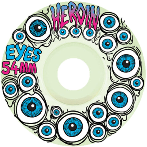 Buy Heroin Skateboards Eyes Wheels (Glow in the Dark) 54 MM 101A Duro See more Wheels? Skateboarding Wheels. Fast Free UK Delivery, Worldwide Shippng.