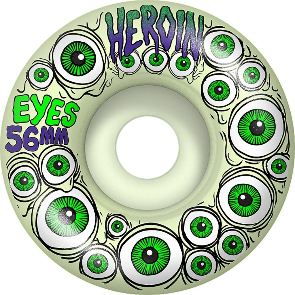 Buy Heroin Skateboards Eyes Wheels (Glow in the Dark) 56 MM 101A Duro See more Wheels? Skateboarding Wheels. Fast Free UK Delivery, Worldwide Shippng.